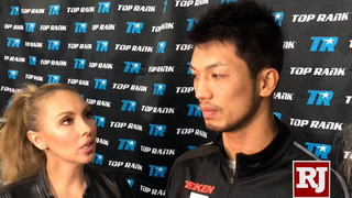 Media workout for middleweight boxers Ryota Murata and Rob Brant