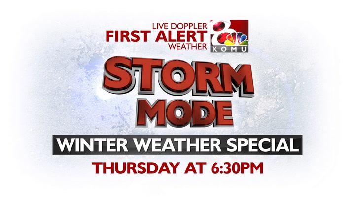 THURSDAY: KOMU 8 Storm Mode Winter Weather Special