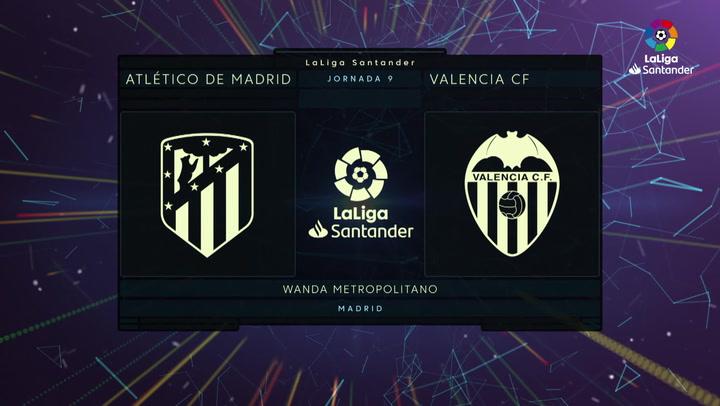Resumen LaLiga (J9): Resumen y goles del Atlético 1-1 Valencia