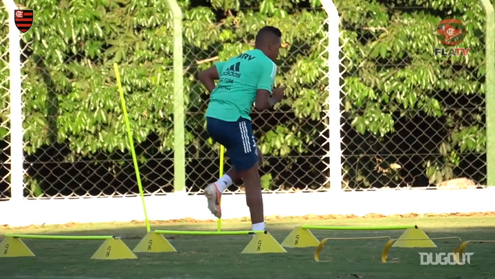 Flamengo prepare to face Coritiba in the Brazilian Championship