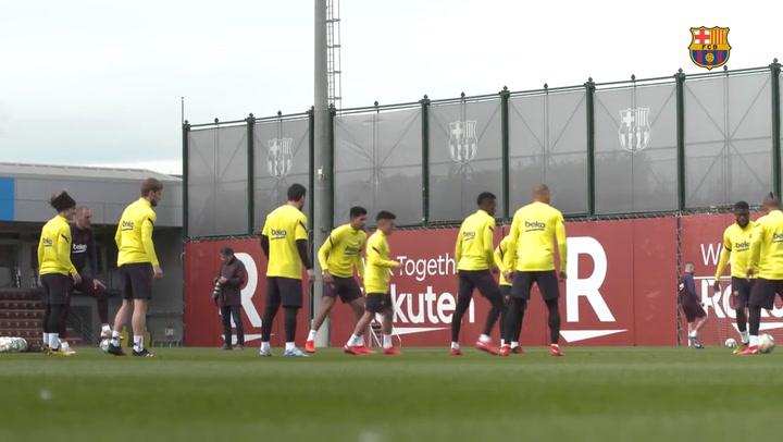 El Barça sigue preparando el encuentro ante la Real Sociedad