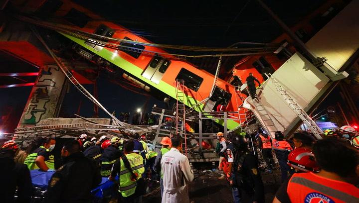 Tragedia en México: al menos 15 muertos y 70 heridos al hundirse una vía elevada metro