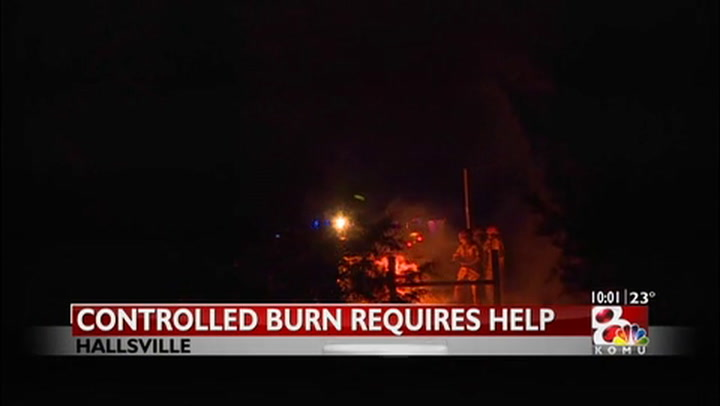 Boone County firefighters respond to fire outside Hallsville