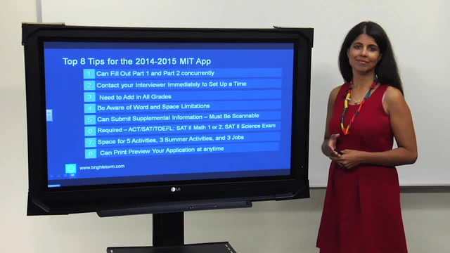 Top 8 Tips for the 2014-2015 MIT Application