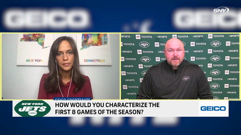 Jets GM Joe Douglas tells SNY's Jeane Coakley: 'We're not where we want to be'