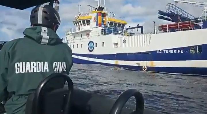 El buque 'Ángeles Alvariño' sigue buscando los cuerpos de Anna y Tomás Gimeno