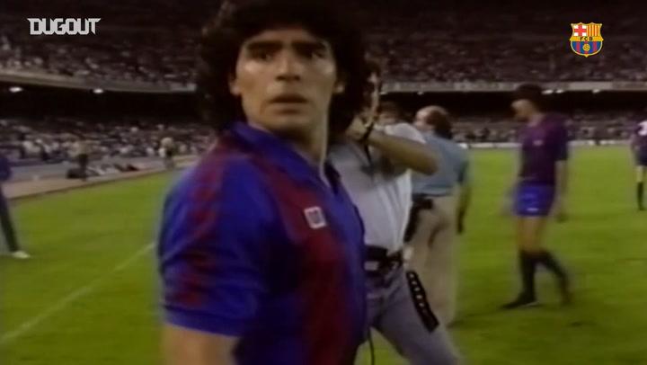 Diego Maradona's best skills at FC Barcelona