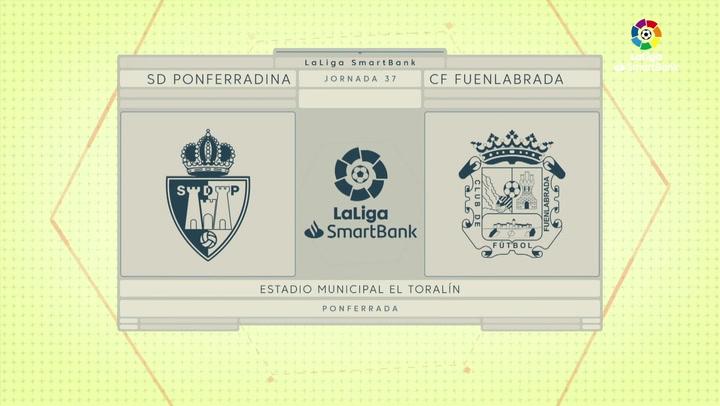 LaLiga Smartbank (Jornada 37): Ponferradina 0-3 Fuenlabrada