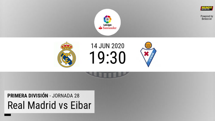 Real Madrid - Eibar: Preview statistics