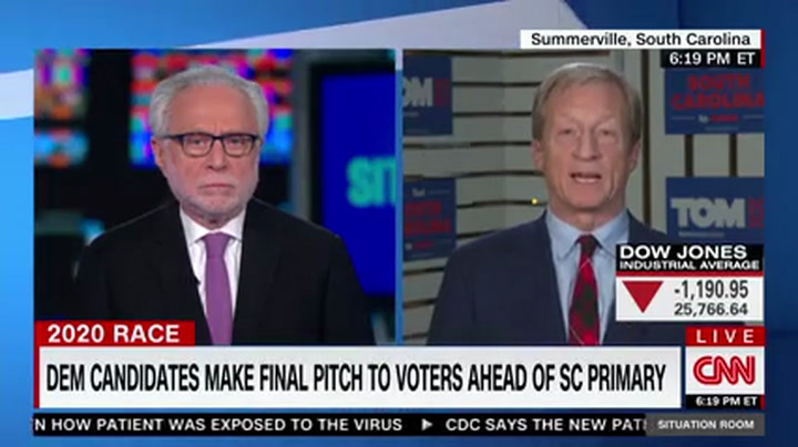 Steyer: Incompetent Trump Has 'Already Blown' Coronavirus Response -- 'He Is Very, Very Late'