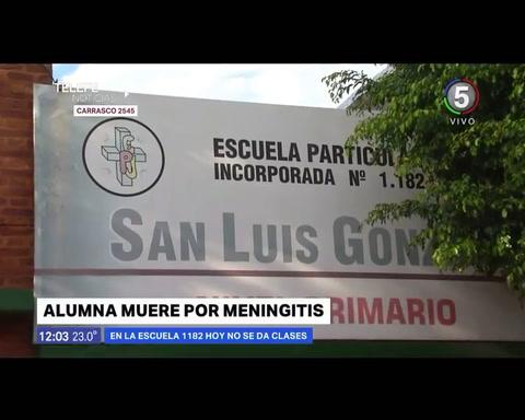 Falleció una alumna de una escuela de Empalme por un cuadro de meningitis