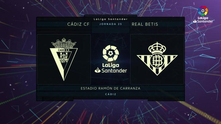 LaLiga Santander (J25): Resumen y gol del Cádiz 0-1 Betis