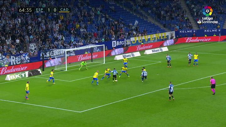 Gol de Chust (p.p.) (2-0) en el Espanyol 2-0 Cádiz