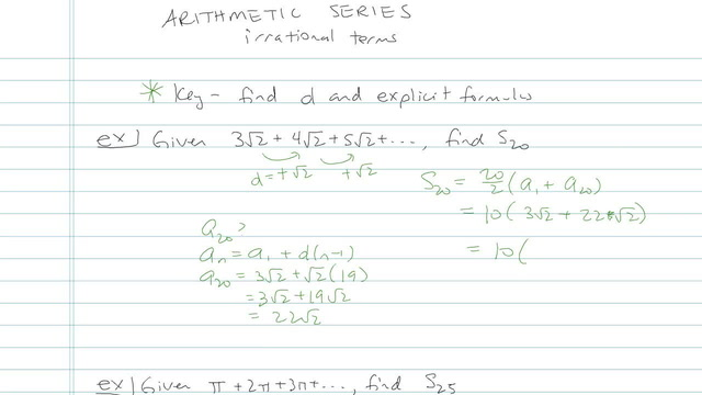 Arithmetic Series - Problem 12