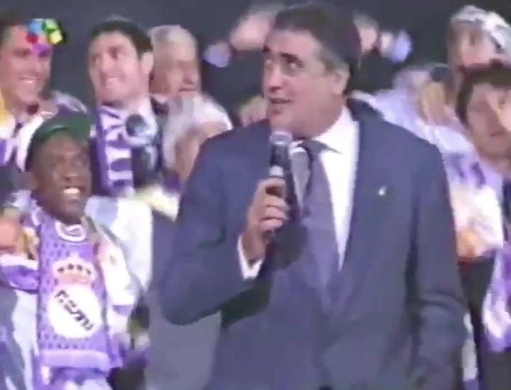 Lorenzo Sanz fue el presidente de la séptima Copa de Europa del Real Madrid