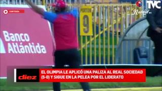 Los elogios en Diez TV para Troglio y el Olimpia tras la paliza ante el Real Sociedad