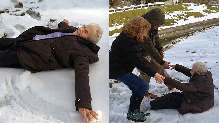 Bestemor (85) ville så gjerne lage snøengel