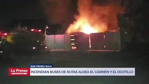 Incendian cinco buses de las rutas aldea El Carmen y El Ocotillo