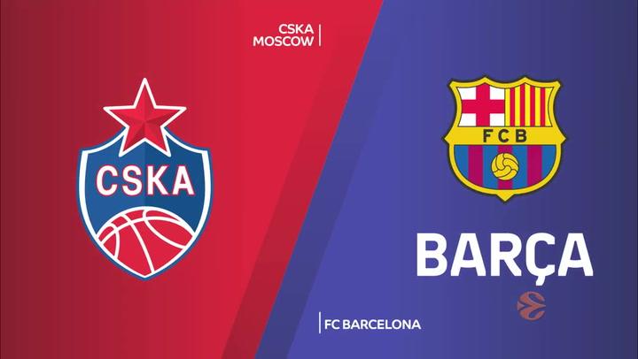 Euroliga: CSKA Moscow - FC Barcelona