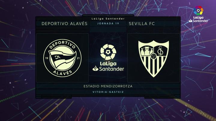 LaLiga Santander (Jornada 19): Alavés 1-2 Sevilla