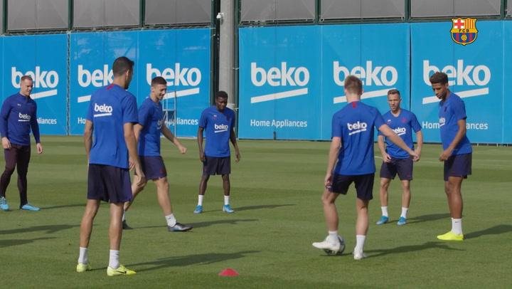 El Barça se prepara para el partido ante el Villarreal