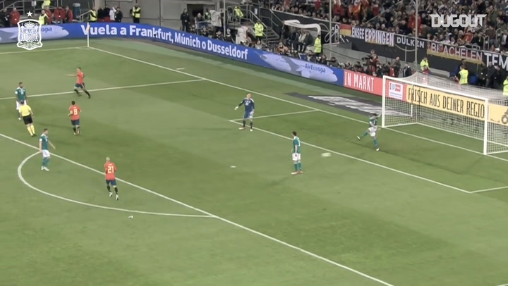 Iniesta's assist for Rodrigo against Germany