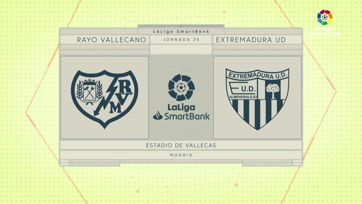LaLiga SmartBank (J25): Resumen del Rayo Vallecano 1-1 Extremadura