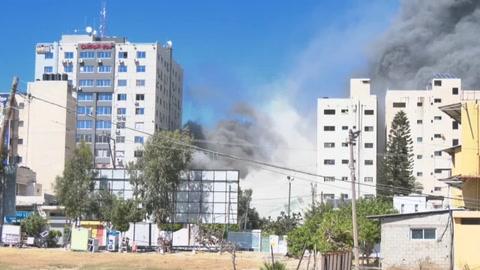 Israel destruye oficinas de prensa internacional en Gaza