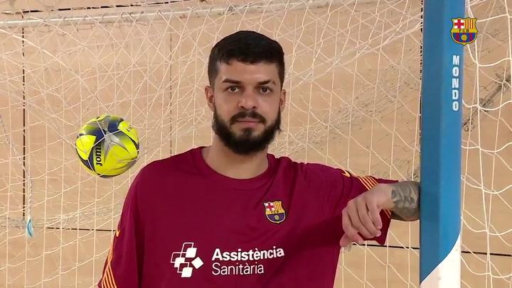 """El primer día de Matheus, """"fútbol sala alegre"""" para el Barça"""