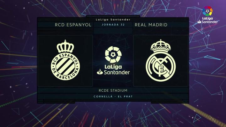 LaLiga Santander (Jornada 32): Espanyol 0-1 Real Madrid
