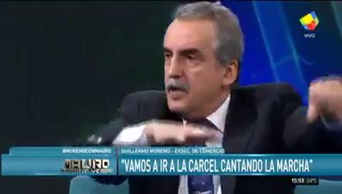 Guillermo Moreno dijo que no cree que Cristina vaya presa tras la detención de Boudou