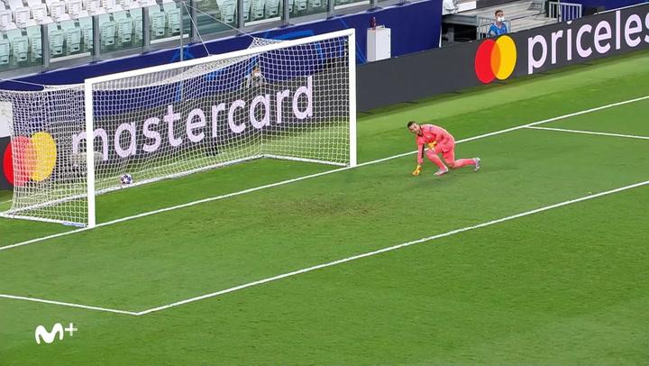 Champions League Juventus-Olympique Lyon. Gol de Cristiano Ronaldo (2-1)