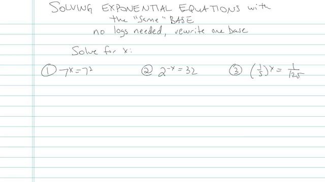 Solving Exponential Equations with the 'Same' Base - Problem 4