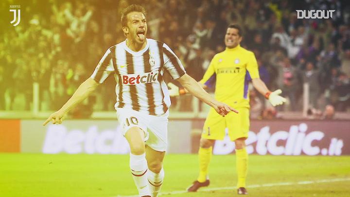 Alessandro Del Piero's trademark celebration