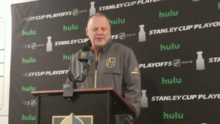 Golden Knights coach Gerard Gallant (1)