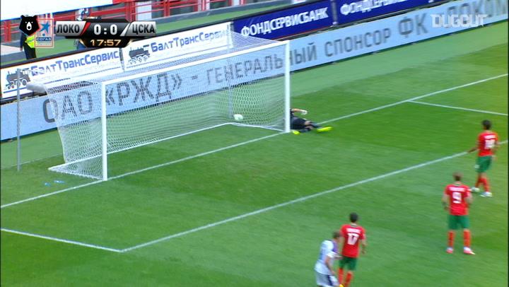 Honda's stunning free-kick against Lokomotiv