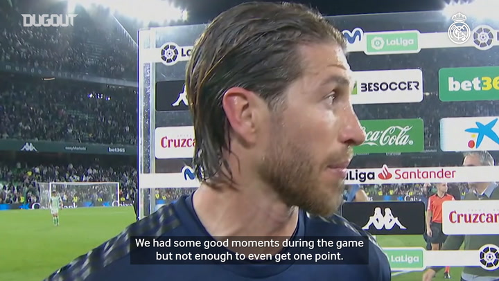 Sergio Ramos: 'We didn't perform and the result is fair'