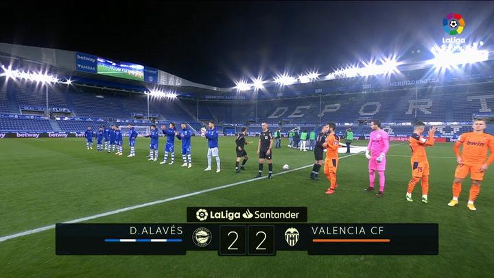 LaLiga (J10): Resumen y goles del Alavés 2-2 Valencia