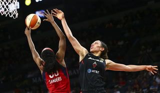 Aces sneak by Mystics in Washington — VIDEO