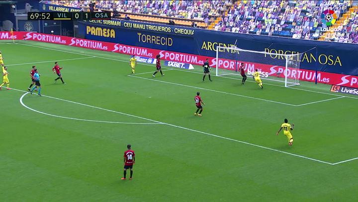 Gol de David García, p.p. (1-1) en el Villarreal 1-2 Osasuna