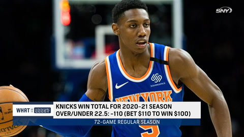 What are the odds the Knicks win over 22.5 games in 2020-21?