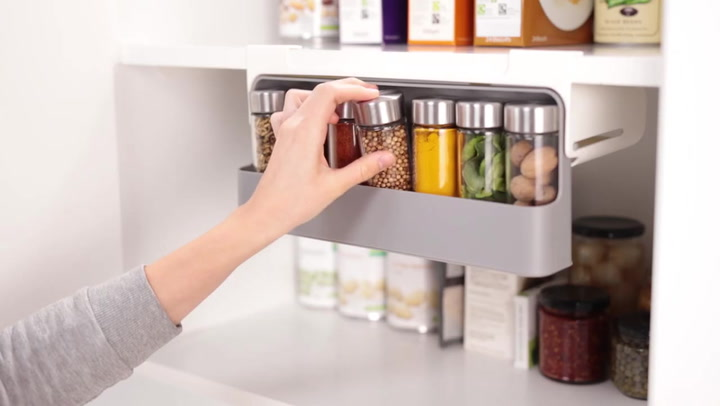 Preview image of Joseph Joseph CupboardStore Under-Shelf Spice Rack video