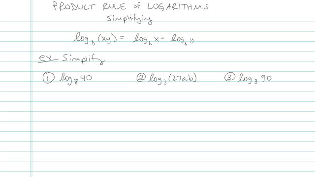 Product Rule of Logarithms - Problem 4