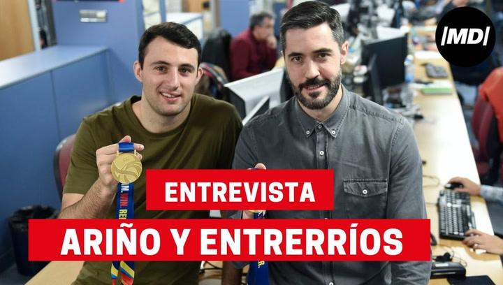 Entrevista a Raúl Entrerríos y Aitor Ariño de balonmano