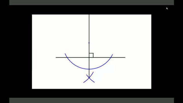 Matte. Hvordan konstruere normalen til en linje fra et punkt utenfor linjen
