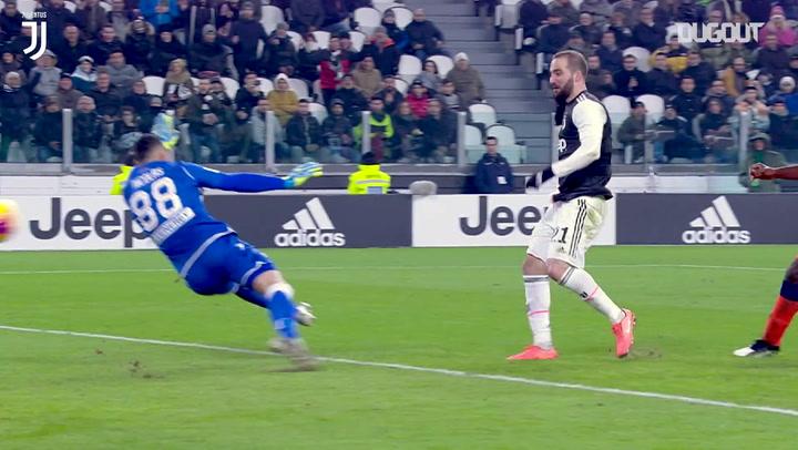 Gonzalo Higuaín materializa la sublime jugada de los bianconeri