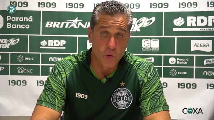 Jorginho fala sobre as oportunidades de gols perdidas no Coritiba