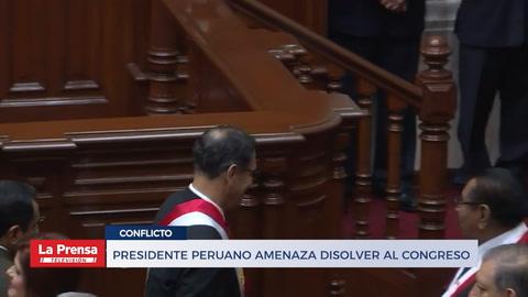 Presidente peruano amenaza con disolver al congreso