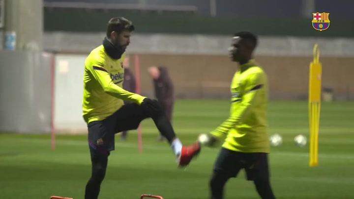 Piqué y Neto, novedades en el entrenamiento