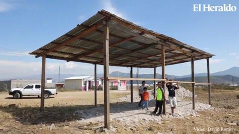 Estudiantes iniciarán el año escolar bajo una galera en Colinas de Santa Rosa